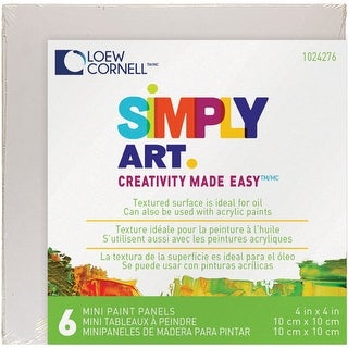 "Simply Art Paint Panels 4""X4"" 6/Pkg-"