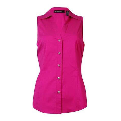 INC International Concepts Women's Sleeveless Buttoned Top