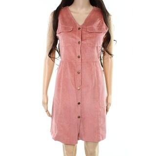 Alice & You NEW Pink Womens Size 22 Plus Corduroy V-Neck Sheath Dress