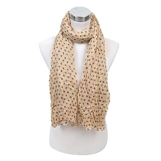Link to Women's Hope Dots Cream Viscose Scarf LS4170 - Regular Similar Items in Scarves & Wraps