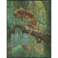 Nature Magazine 2 Leopards in a Tree Vintage Cover (Art Print - Multiple Sizes)