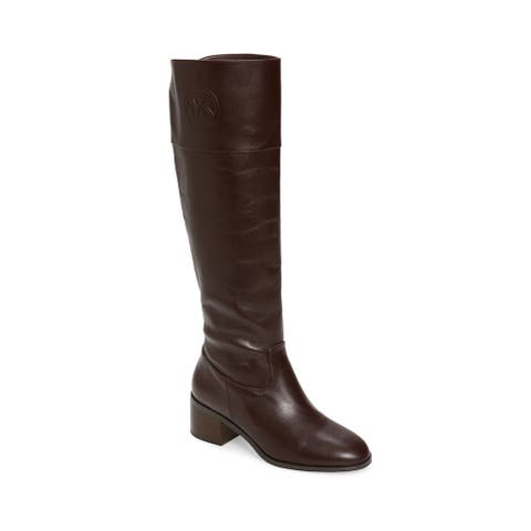 Michael Kors Women's Leather Dylyn Tall Boots Barolo