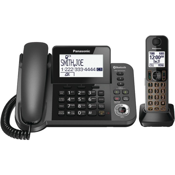 Panasonic Kx-Tgf380M Dect 6.0 1.9Ghz Link2Cell(R) 1-Line Corded/Cordless With Tad (1 Cordless Handset)