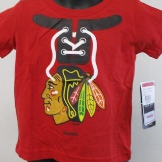 Minor Flaw Chicago Blackhawks Toddler Infant Sizes 2T 4T Reebok Shirt