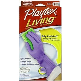 Playtex Living Drip-Catch Cuff Gloves, Medium 1 Pair
