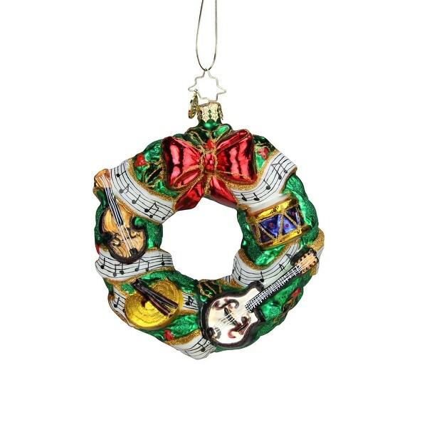 Christopher Radko Rhythmic Christmas Wreath Christmas Ornament #1019232 - green