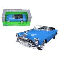1953 Buick Skylark Convertible Blue 1/24 Diecast Model Car by Welly