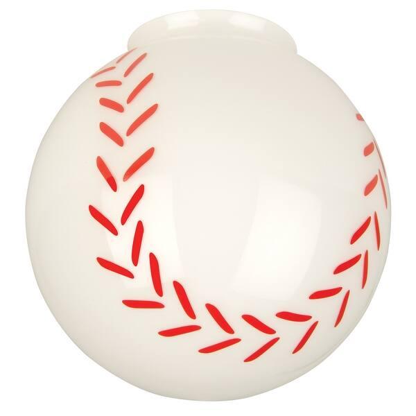 Craftmade 405 Baseball Glass Shade For Ceiling Fan Light Kit Baseball Glass Overstock 13058083