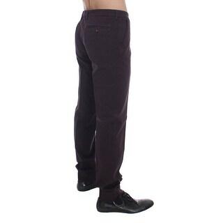 Dolce & Gabbana Purple Cotton Stretch Slim Chinos Jeans