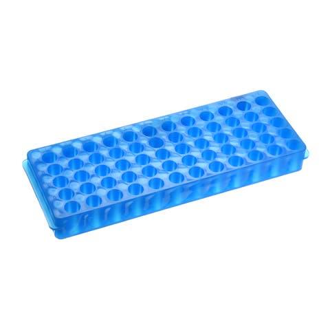 2 Pcs 2 Kind of Tube Rack Polypropylene 60-Well Blue for 0.5ml, 1.5ml, 2ml