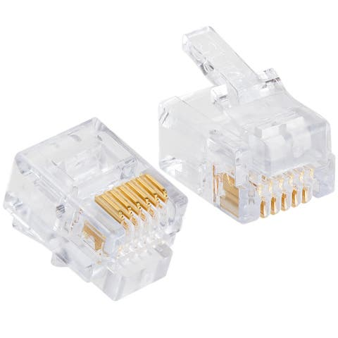 Platinum Tools 100026C EZ-RJ12/11 Connectors, 50 Pc. Clamshell