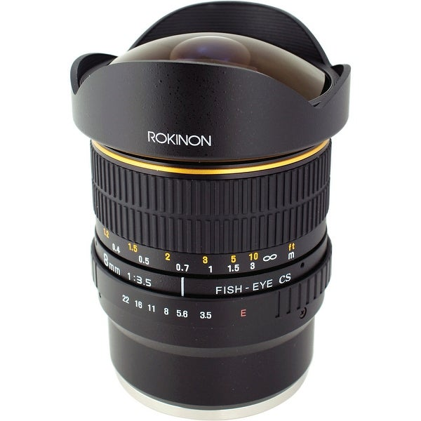 Rokinon 8mm Ultra Wide Angle f/3.5 Fisheye Lens for Sony E Mount Cameras - black