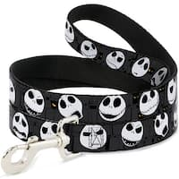 Dog Leash - Nightmare Before Christmas Jack Expressions Gray