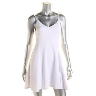 Aqua Womens Juniors Casual Dress Matte Jersey Pattern