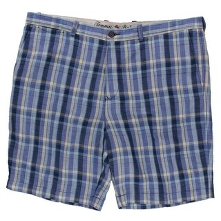 Tommy Bahama Mens Paddleboard Plaid Tencel Blend Linen Dress Shorts