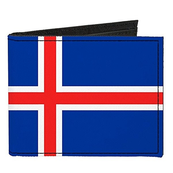 Buckle-Down Canvas Bi-fold Wallet - Iceland Flag Accessory