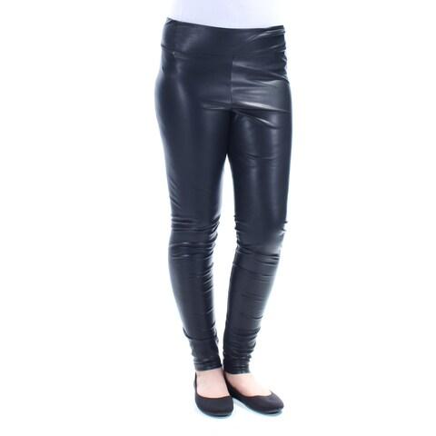 Womens Black Party Leggings Size 8