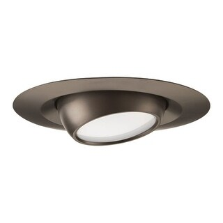 """Progress Lighting P8046-LED LED Recessed 4"""" LED Adjustable Trim with Frosted Polycarbonate Lens (4 options available)"""