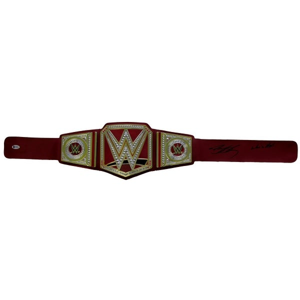 8fc04bc74 Goldberg Signed WWE Universal Championship Toy Replica Belt Whos Next BAS