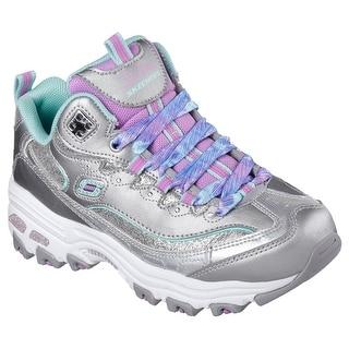 Skechers 80548 SLAQ Girl's D'LITES-WILD BLING Sneaker