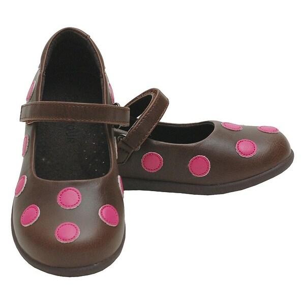 2af6065450750 Shop L Amour Brown Pink Polka Dot Mary Jane Shoes Toddler 5-Little ...