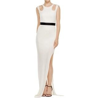 ABS by Allen Schwartz Womens Evening Dress Sleeveless V-Neck