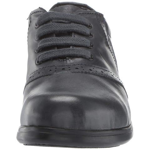 Kids School Mates Girls Eva Leather Lace Up Oxfords