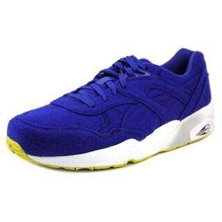 Puma R698 Bright Men Round Toe Canvas Blue Sneakers