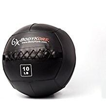 "BodyKore Premium Wall Ball- Double Stitched Industrial Vinyl- Durable- Medicine Ball- WOD- 14"" Diameter-10lb"