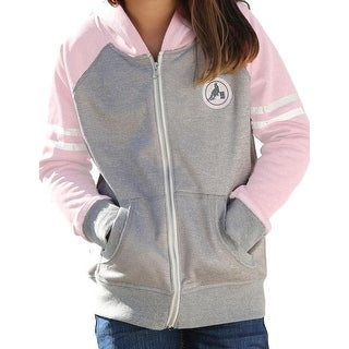 Cruel Girl Western Sweatshirt Girls Zip Pockets Stripe Pink