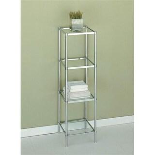 Organize It All 16954 4 Tier Bathroom Shelf