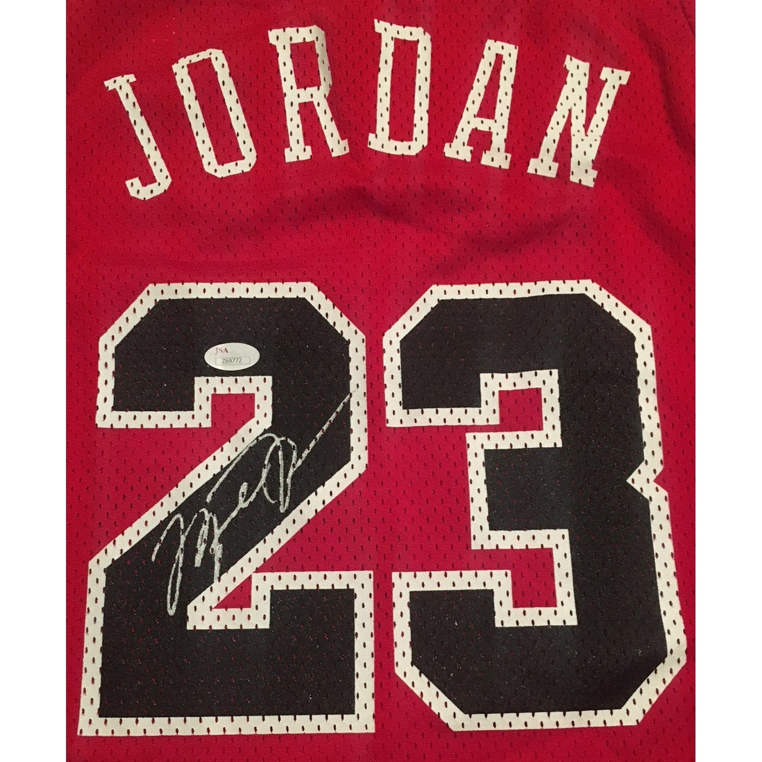 buy online e5b90 a2405 Michael Jordan Autographed Chicago Bulls 1984 Nike Signed Authentic  Basketball Red Jersey JSA COA