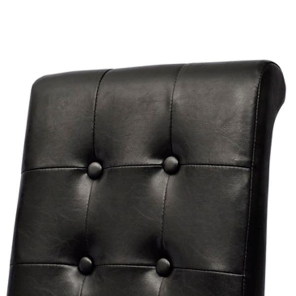 Astonishing Shop 4 Modern Black Dining Side Chairs Tufted Scroll Back Pabps2019 Chair Design Images Pabps2019Com