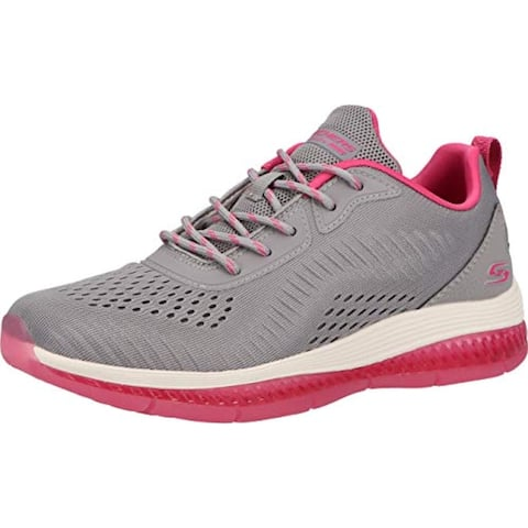 Skechers Bobs Gamma-Cool Chillin 117102-GRY, Womens, Buty Sneakers, Gray Engineered Mesh/Pink Trim
