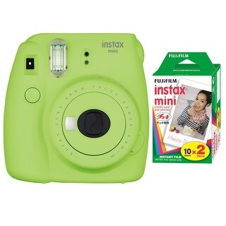 Fujifilm Instax Mini 9 (Lime Green) with Instax Mini Film (20 Sheets)