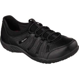 Skechers Women's Work Relaxed Fit Rodessa Slip Resistant Shoe Black