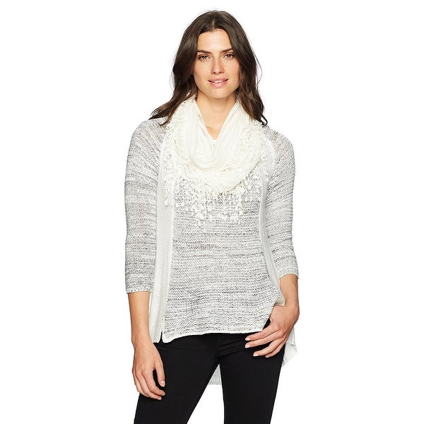 Shop OneWorld Women\'s Plus Size 3/4 Sleeve Sweater with ...