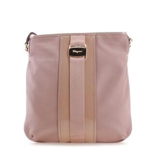Salvatore Ferragamo Strapped Ginny Leather Satchel Handbag - Pink - S