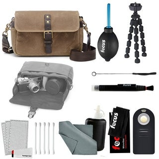 ONA - The Bowery - Camera Messenger Bag - Field Tan Waxed Canvas & Accessory Kit
