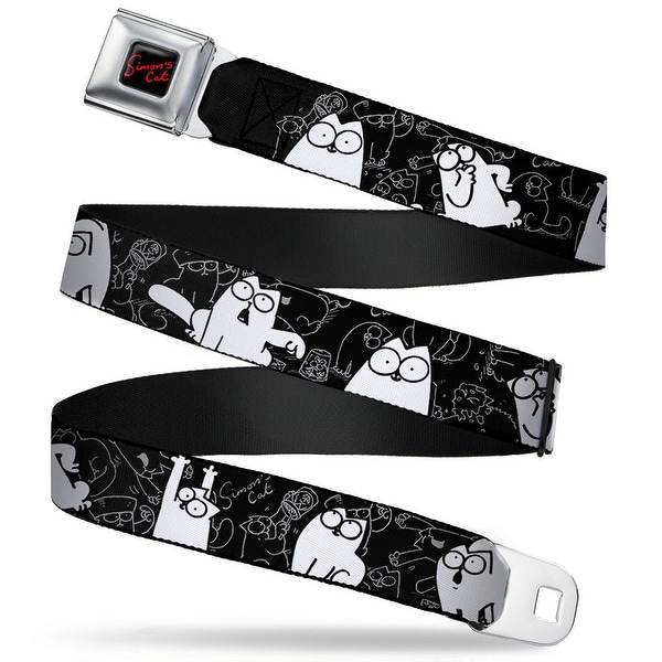 Simon's Cat Full Color Black Red Simon's Cat Poses Sketch Poses Black Gray Seatbelt Belt