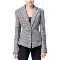 Rachel Rachel Roy Womens One-Button Blazer Tweed Marled