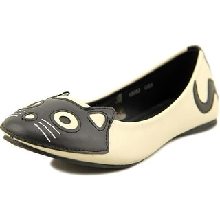 T.U.K. Vegan Kitty Flat Women Round Toe Synthetic Ivory Flats