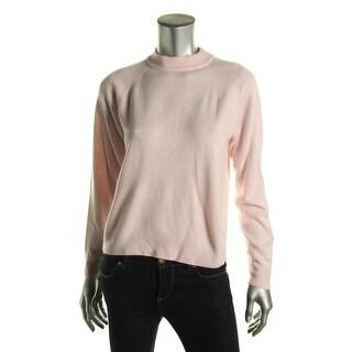 Karen Scott Womens Petites Knit Long Sleeves Sweater