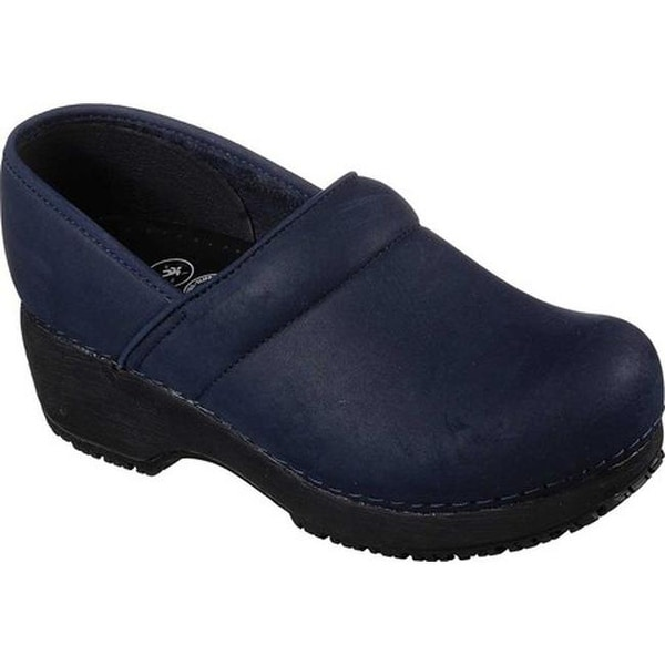 Shop Skechers Women s Work Clog Slip Resistant Shoe Navy - On Sale ... 0eed052f6