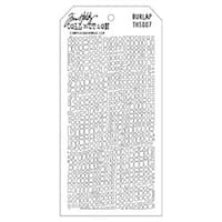 "Burlap - Tim Holtz Layered Stencil 4.125""X8.5"""
