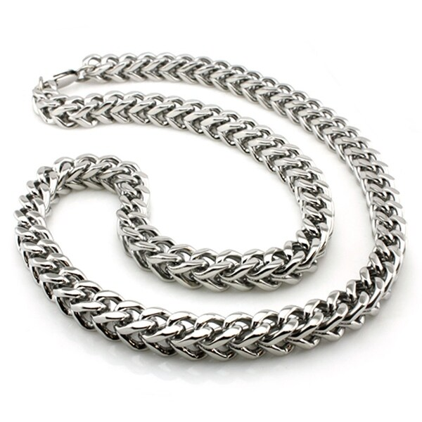 Stainless Steel 9mm Wheat Box Necklace - 24 inches