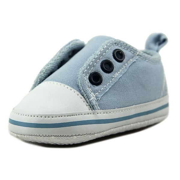 Luvable Friends Laceless Sneaker Infant Round Toe Canvas Blue Sneakers