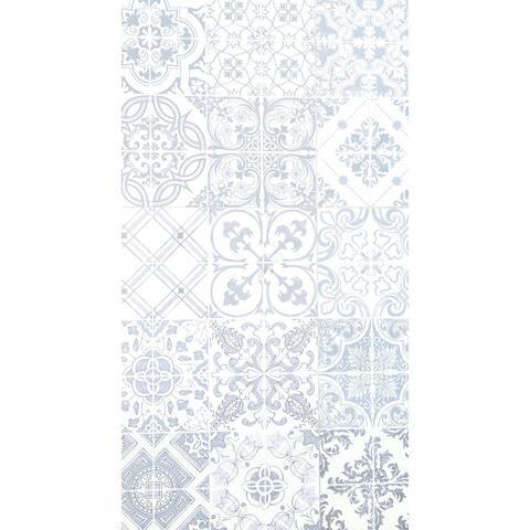 "26""X48"" Non Slip Designer Kitchen Art Mat, Stylish Floor Mat for Kitchen, Bathroom, Entryway, Taupe, White"