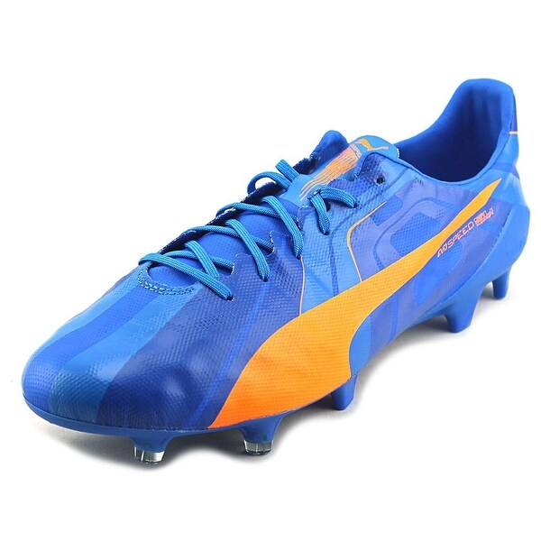 Puma evoSPEED SL H2H FG Soccer Cleats Men Round Toe Synthetic Blue Cleats