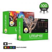 Liteup100 Solar LED String Lights White or Multi-Color